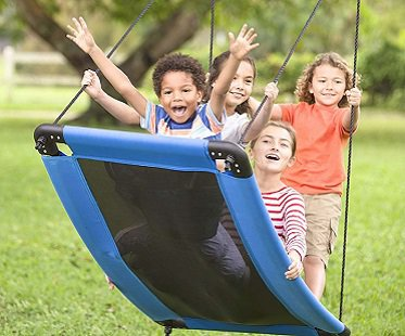 curved platform swing kids