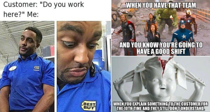 funny retail worker images