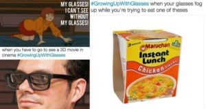 growing up with glasses