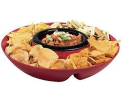 heated chip and dip tray