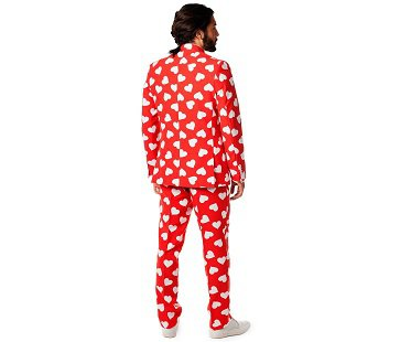 love hearts suit red