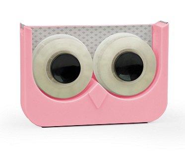 owl tape dispenser pink