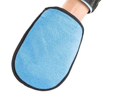 sand removing mitt glove