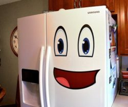 smiley face fridge decals