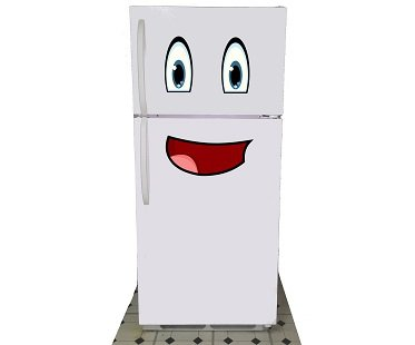 smiley face fridge decals freezer