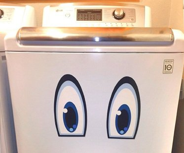 smiley face fridge decals washing machine