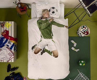 soccer player bedding set