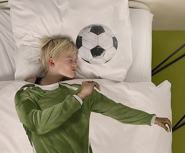 soccer player bedding set football