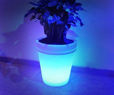 solar light up flower pot