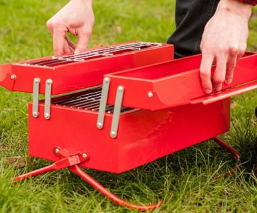 toolbox bbq red