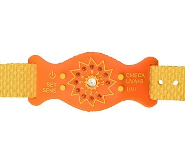 uv monitor wristband orange