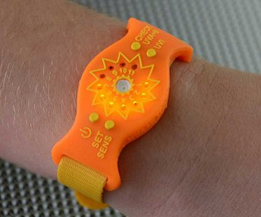 uv monitor wristband sun