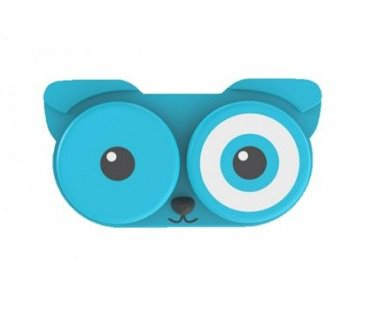 Dog Contact Lens Case blue