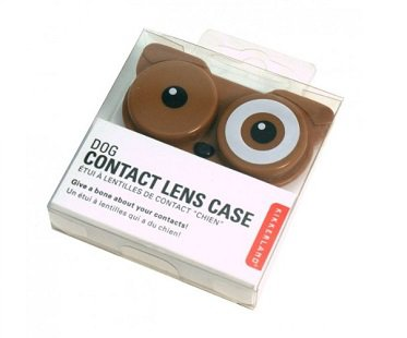 Dog Contact Lens Case brown
