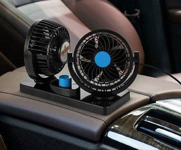 Dual Head Car Fan