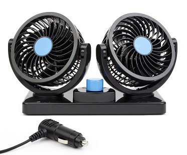 Dual Head Car Fan plug
