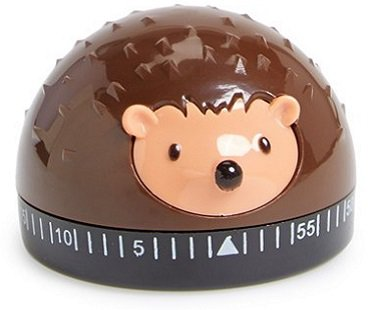Hedgehog Kitchen Timer brown