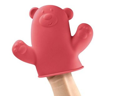 bear puppet pot holder hand