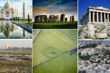 famous landmarks from afar
