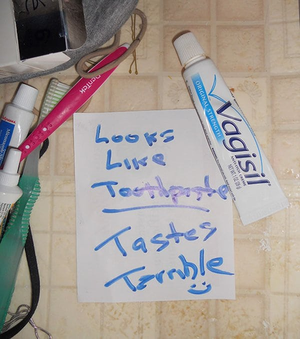 notes from parents vagisil toothpaste fail