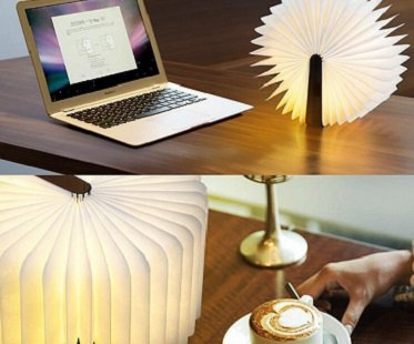 open book lamp pages