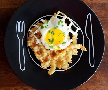 waffle iron recipe book french fries