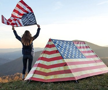 american-flag-tent & American Flag Tent