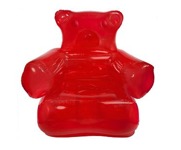 Inflatable Gummy Bear Chair red