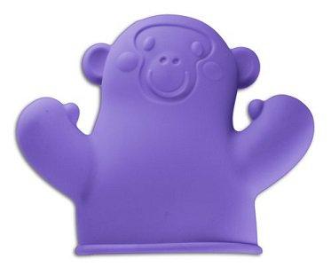 Monkey Puppet Pot Holder purple
