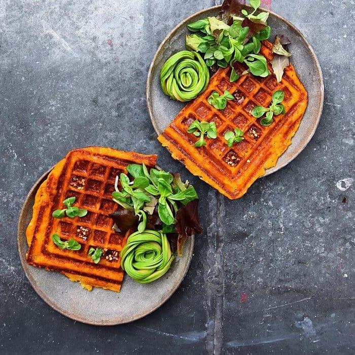 avocado waffles