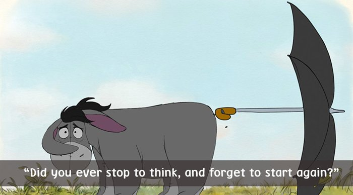 best-winnie-the-pooh-quotes-eeyore-stop-think-forget-to-start