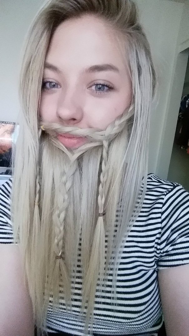 blond braid beard