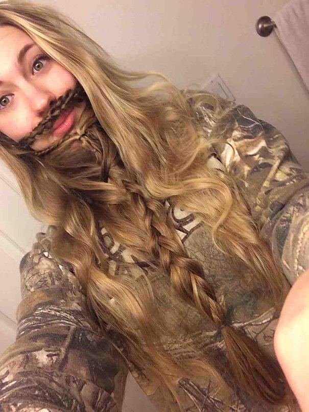 blonde brown beard