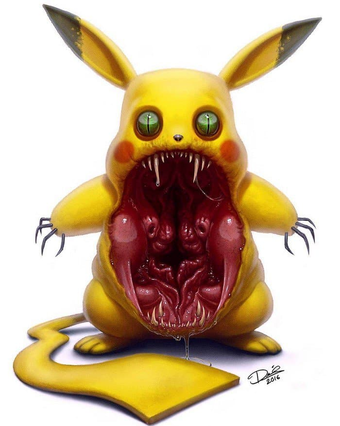 cartoon-characters-monsters-scary-pikachu