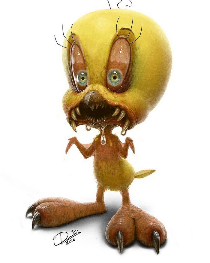 cartoon-characters-monsters-tweety-pie