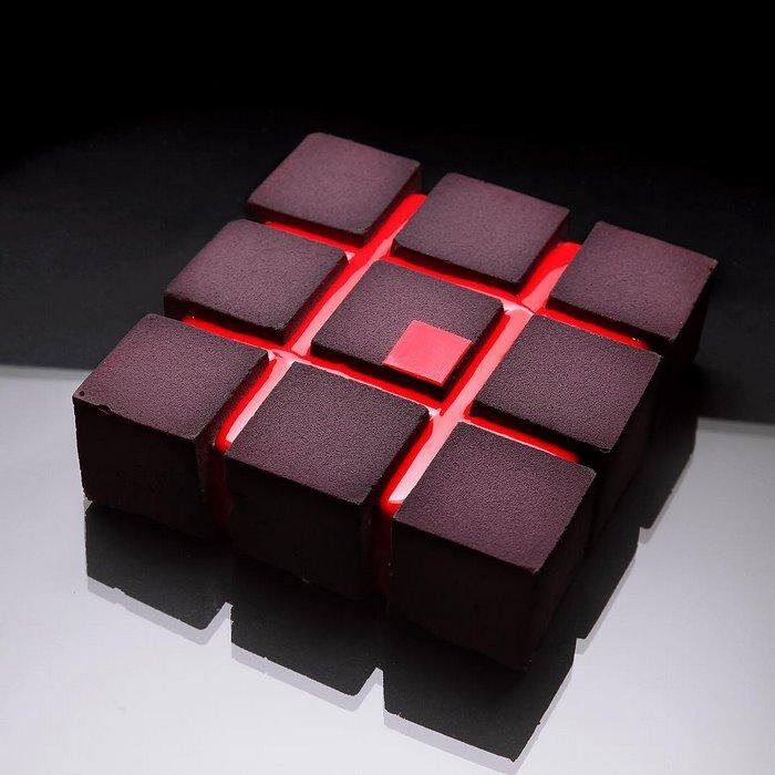 choc-red-cubes