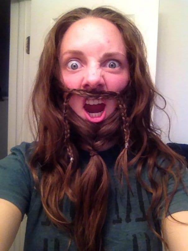 funny face beard