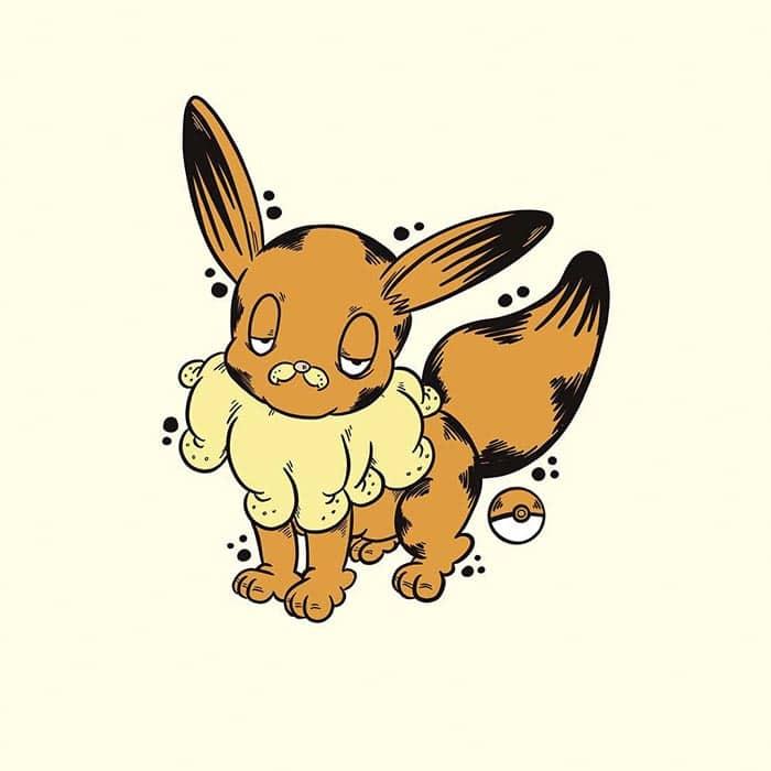 garfield-pokemon-eevee