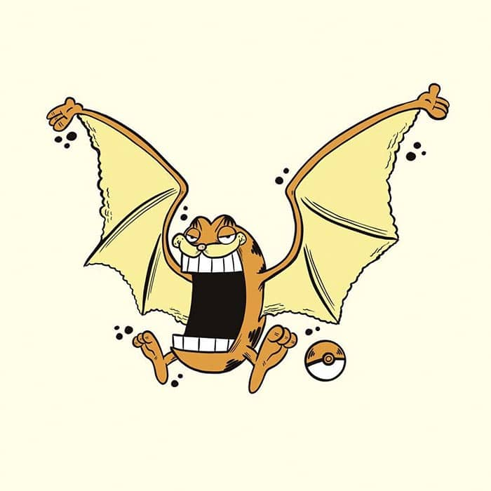garfield-pokemon-golbat