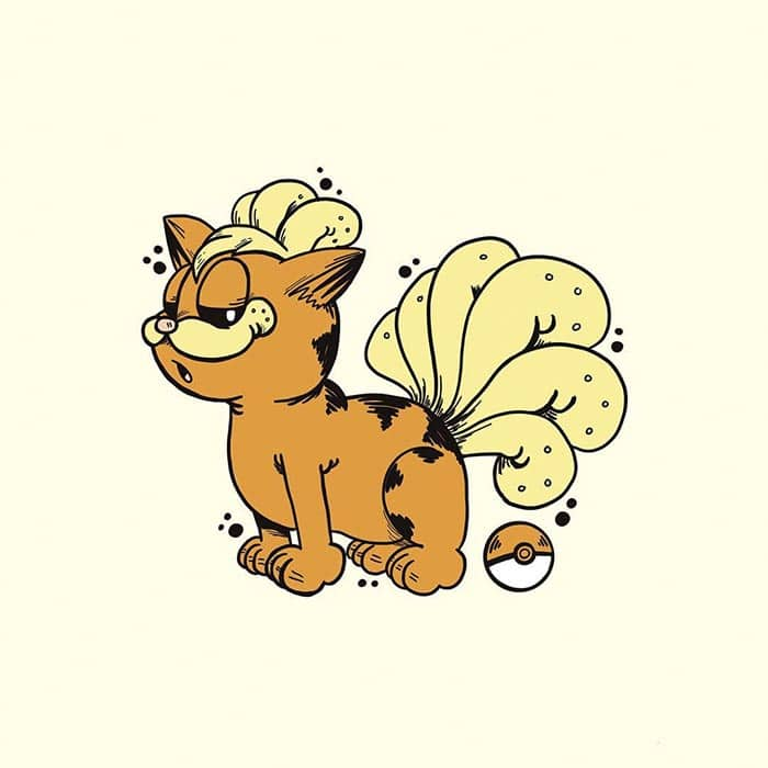 garfield-pokemon-vulpix