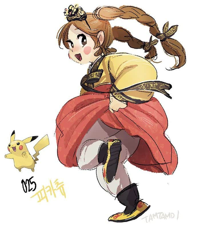 humanized-pokemon-adorable-excited-pikachu