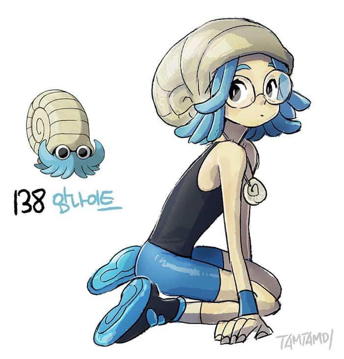 humanized-pokemon-blue-omanyte