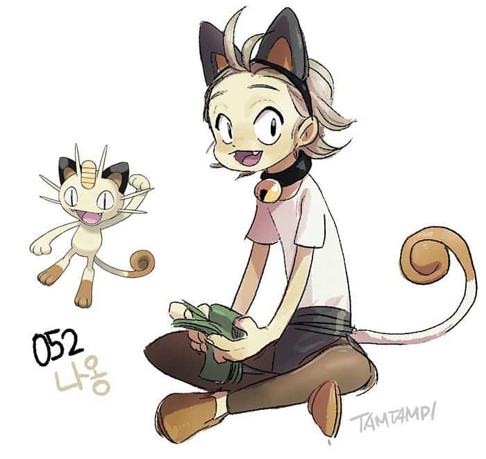 humanized-pokemon-cute-meowth