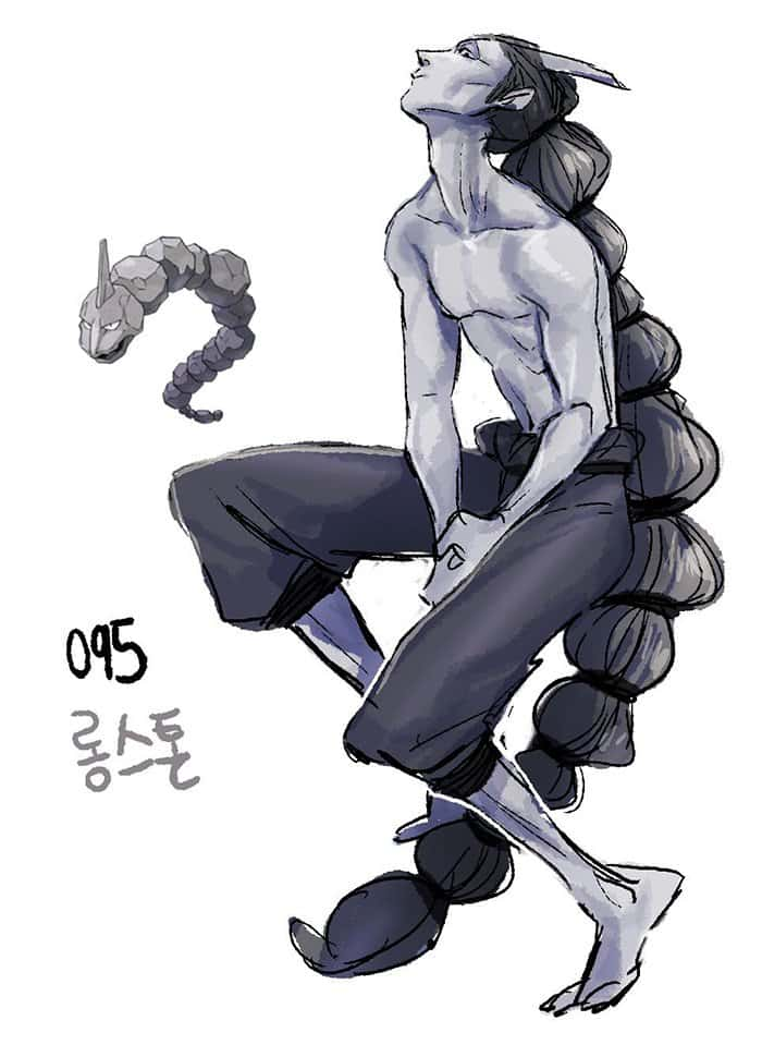 humanized-pokemon-hair-onix