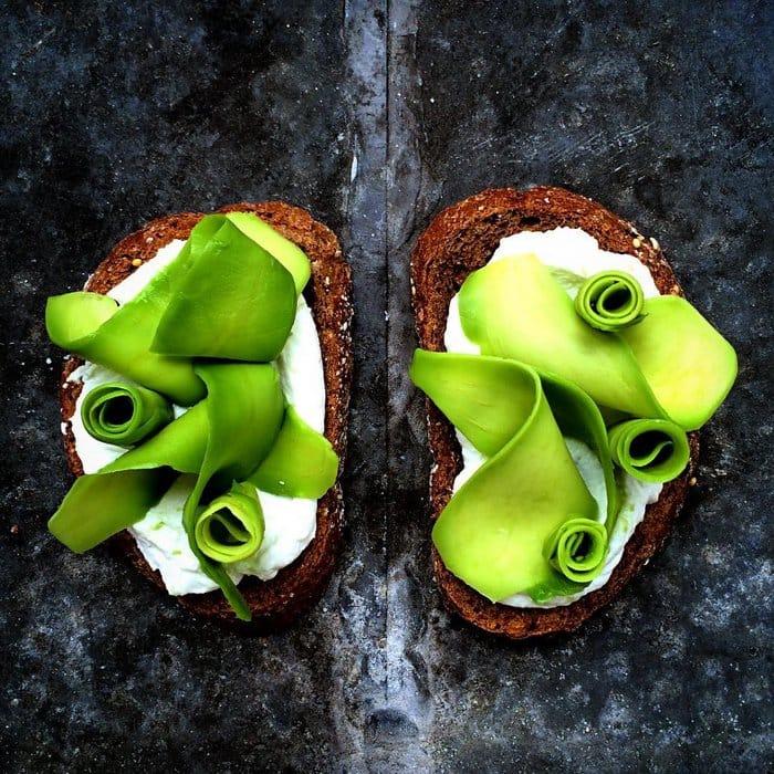 leaves on toast