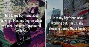 lies to boyfriends