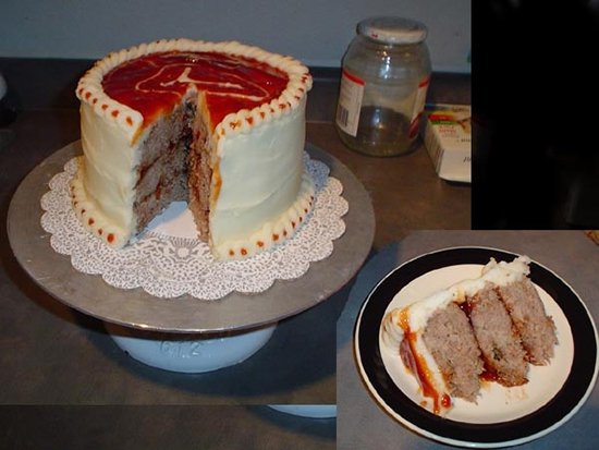 cake made of meatloaf