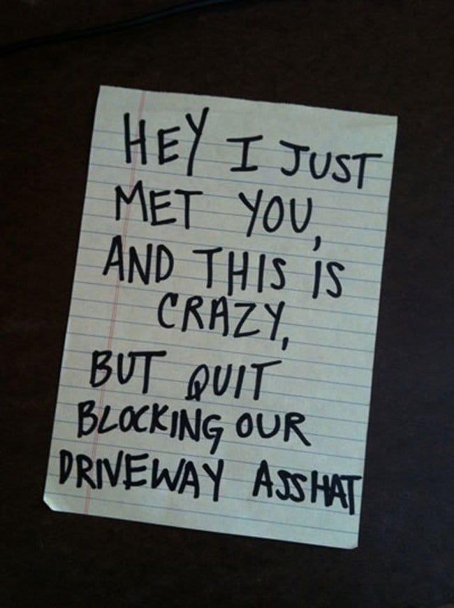 passive-agressive-blocking-driveway
