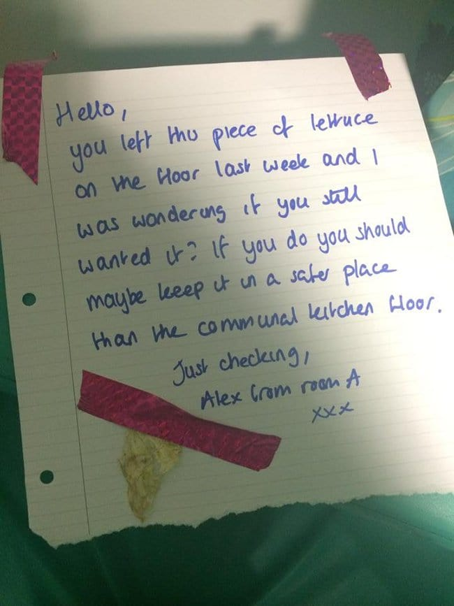 passive agressive notes you left this lettuce