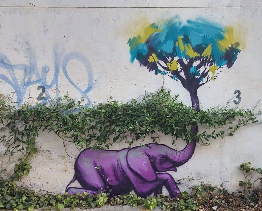 purple-tree-elephant